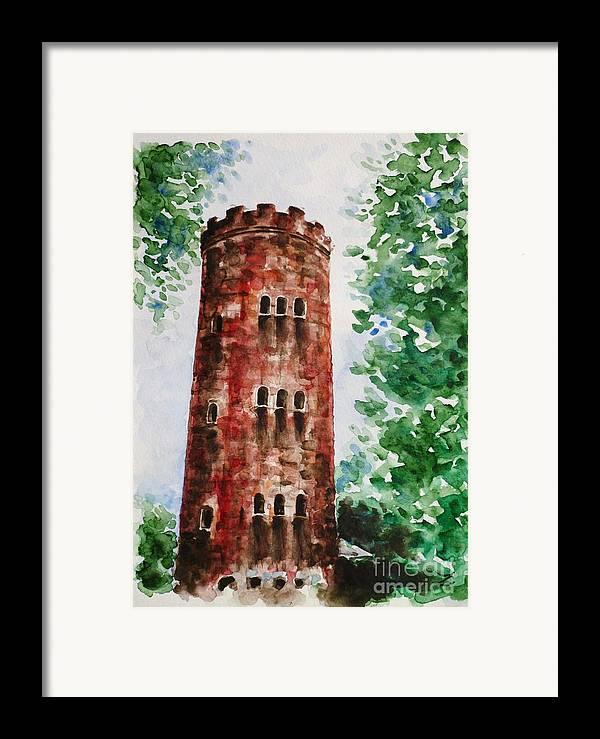 Yokahu Tower Framed Print featuring the painting Yokahu Tower by Zaira Dzhaubaeva