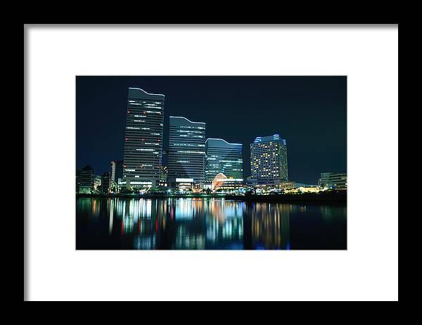 Minato Mirai Framed Print featuring the photograph Yokohama Minato-mirai by Kaoru Hayashi