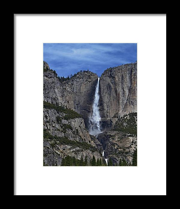 Yosemite Falls-vertical Framed Print featuring the photograph Yosemite Falls- Vertical by See My Photos