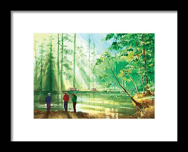 Yosemite Framed Print featuring the painting Yosemite Morning by Ray Cole