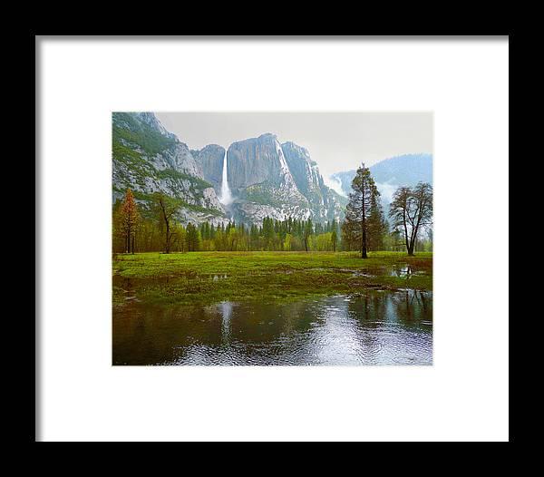Yosemite Framed Print featuring the photograph Yosemite Rain by Dena Baker
