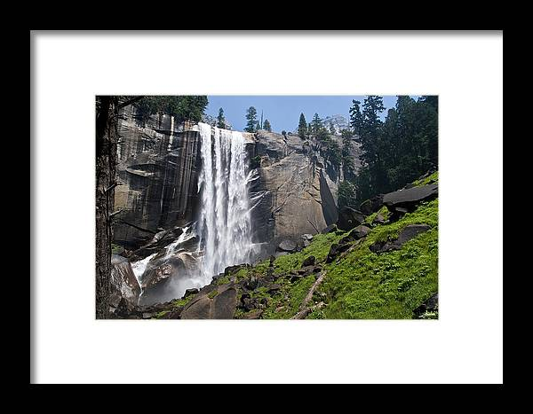 Mist Falls Framed Print featuring the photograph Yosemite's Mist Falls by Jim JIMBO Gray