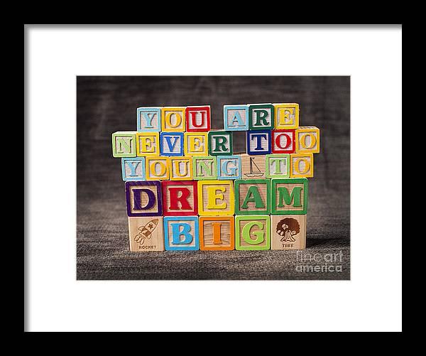 You Are Never Too Young To Dream Big Framed Print featuring the photograph You Are Never Too Young To Dream Big by Art Whitton