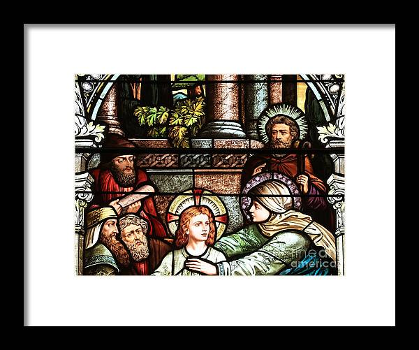 Catholic Church Framed Print featuring the photograph Young Jesus In The Temple by Adam Jewell