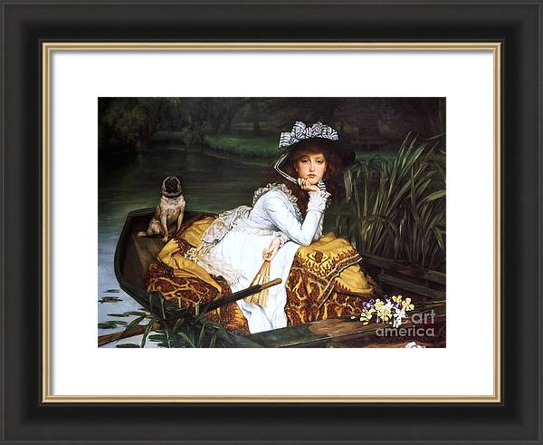 Young Lady in a Boat by Pg Reproductions