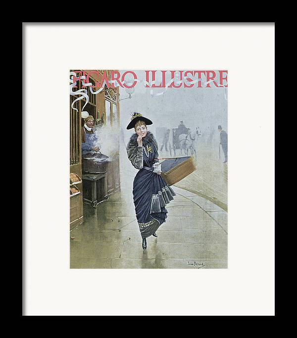 Street Scene Framed Print featuring the painting Young Parisian Hatmaker by Jean Beraud