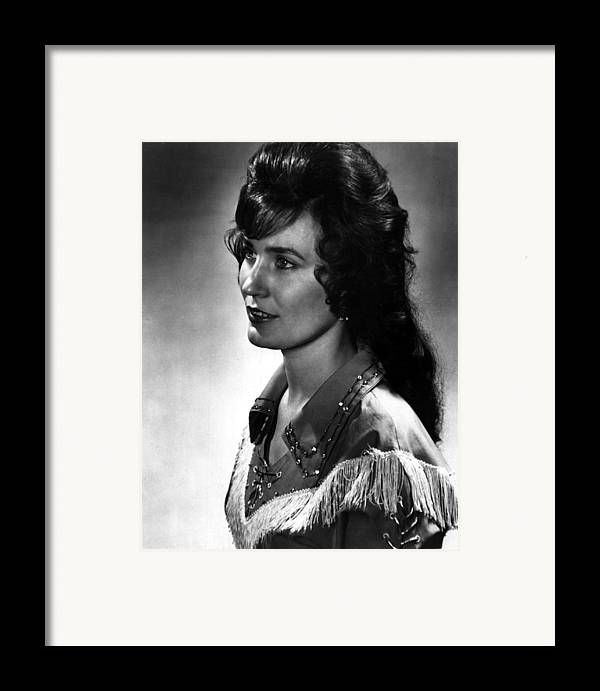 Retro Images Archive Framed Print featuring the photograph Younger Loretta Lynn by Retro Images Archive