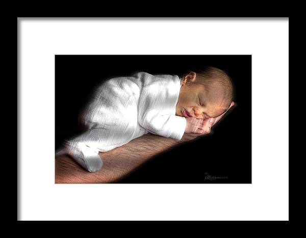 Baby Framed Print featuring the photograph You're In Good Hands - Featured In 'comfortable Art' And Notecard Possibilities Groups by Ericamaxine Price