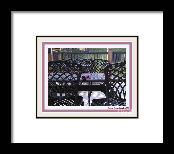 Dinner Framed Print featuring the digital art You're Invited by Angelia Hodges Clay