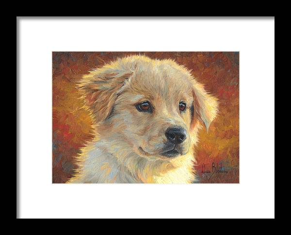 Dog Framed Print featuring the painting Youth by Lucie Bilodeau