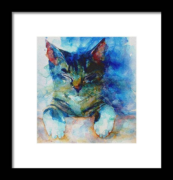 Cat Framed Print featuring the painting You've Got A Friend by Paul Lovering