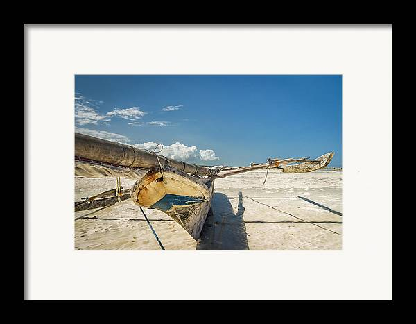3scape Framed Print featuring the photograph Zanzibar Outrigger by Adam Romanowicz