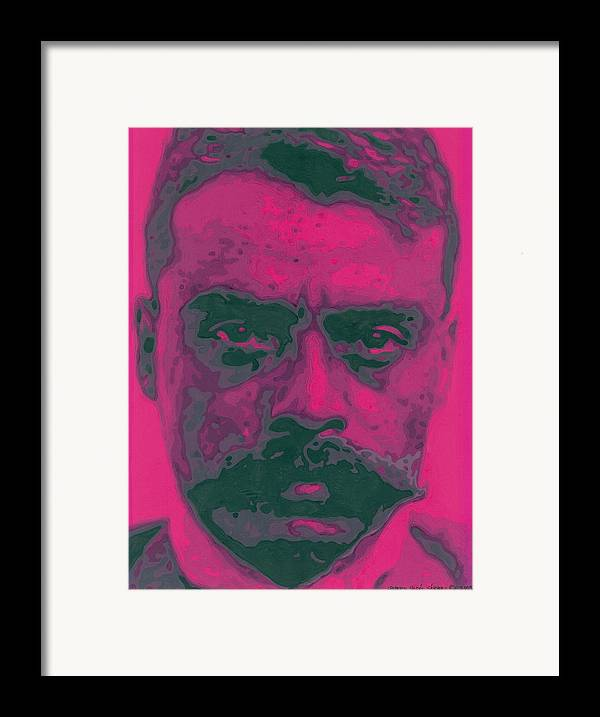 Emiliano Zapata Framed Print featuring the painting Zapata Intenso by Roberto Valdes Sanchez