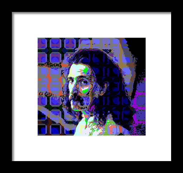 Colorful Framed Print featuring the digital art Zappa Blue by Scott Davis