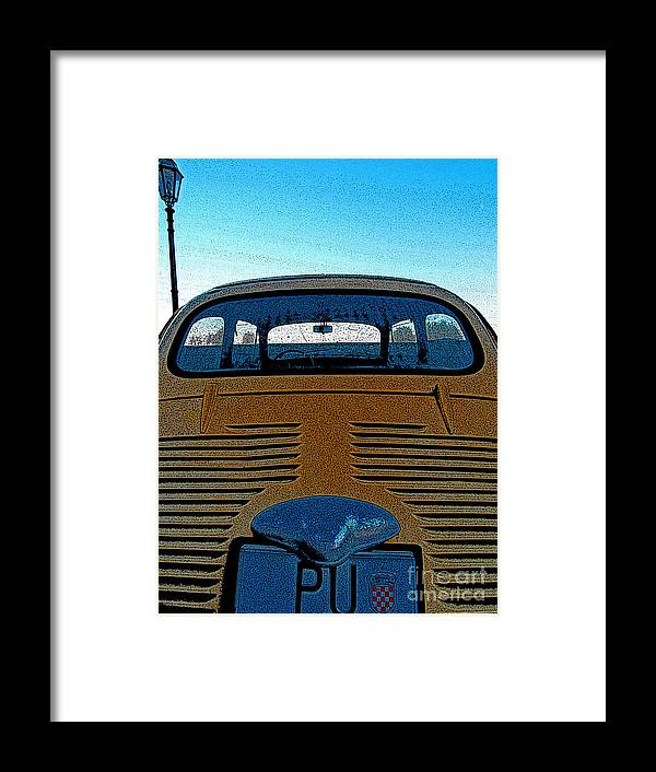 Croatia Framed Print featuring the photograph Zastava by Andy Prendy