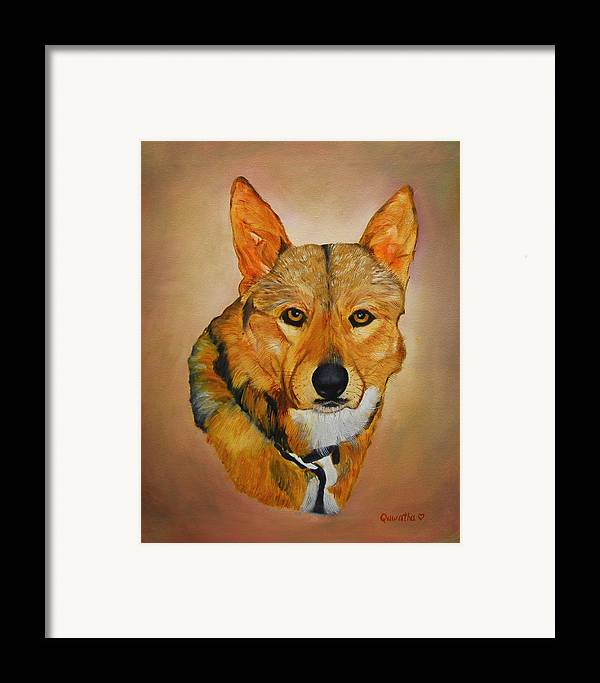 Animals Framed Print featuring the painting Zavious by Quwatha Valentine