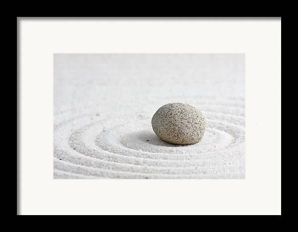 Abstract Framed Print featuring the sculpture Zen Garden by Shawn Hempel