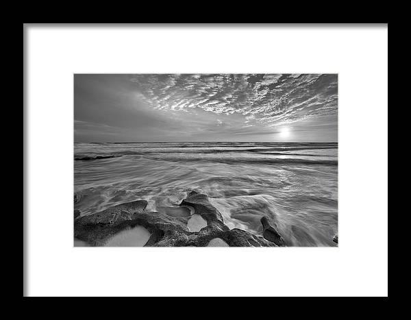 Sunrise Framed Print featuring the photograph Zen Mood by Razvan Balotescu