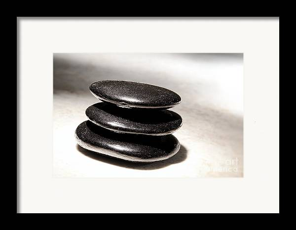 Zen Framed Print featuring the photograph Zen Stones by Olivier Le Queinec