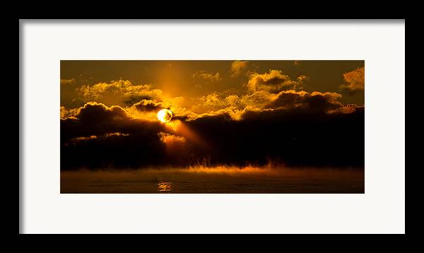 Horizons Framed Print featuring the photograph Zero Degree Steam by Phil Koch