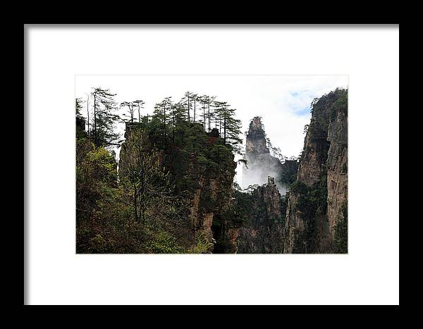 Scenery Framed Print featuring the photograph Zhangjiajie National Forest Park In China by Yue Wang