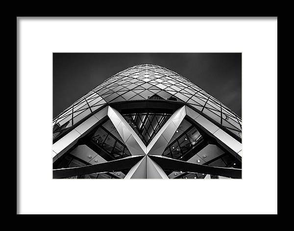 London Framed Print featuring the photograph Zigzag (the Gherkin) by Ahmed Thabet