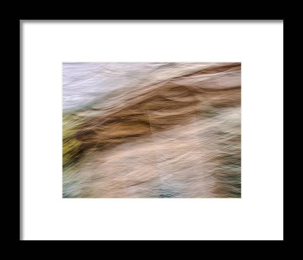 Zion National Park Framed Print featuring the photograph Zion Fall Abstract by Deborah Hughes