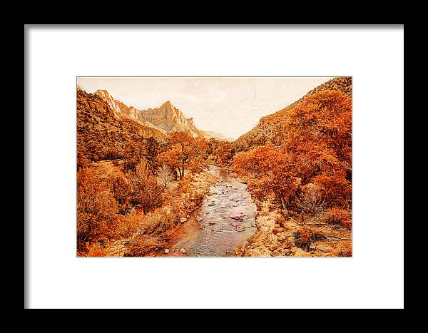 Zion National Park Framed Print featuring the photograph Zion National Park by Ken Cromer
