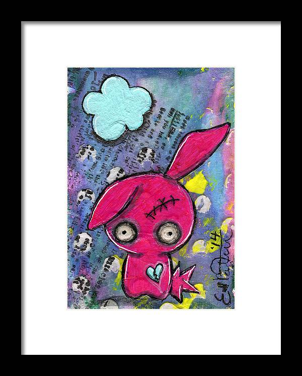 Kawaii Framed Print featuring the mixed media Zombiemania 1 by Lizzy Love