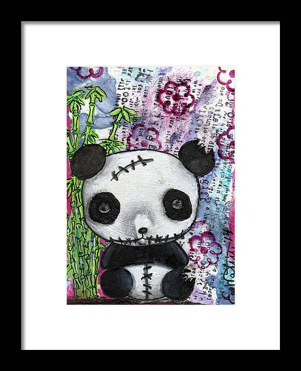 Kawaii Framed Print featuring the mixed media Zombiemania 2 by Lizzy Love