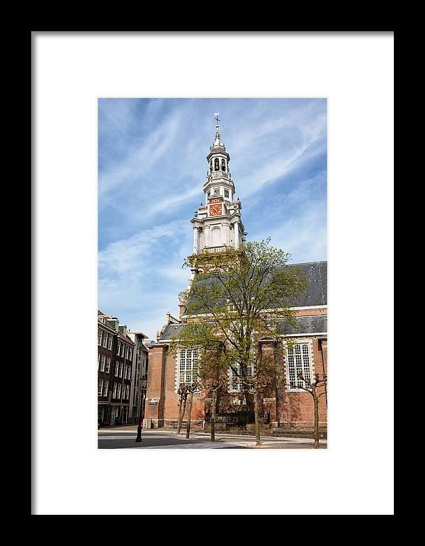 Amsterdam Framed Print featuring the photograph Zuiderkerk In Amsterdam by Artur Bogacki