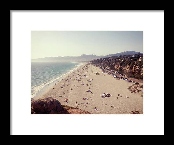 Water's Edge Framed Print featuring the photograph Zuma Beach At Sunset Malibu, Ca by William Andrew
