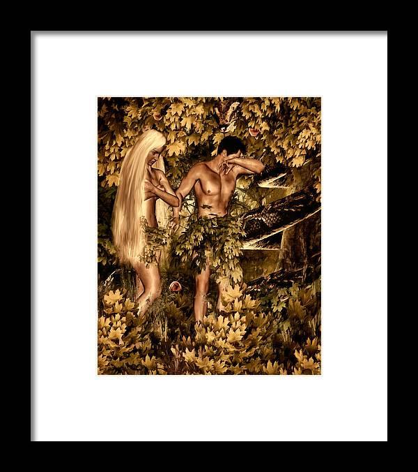 Birth Of Sin Framed Print By Lourry Legarde
