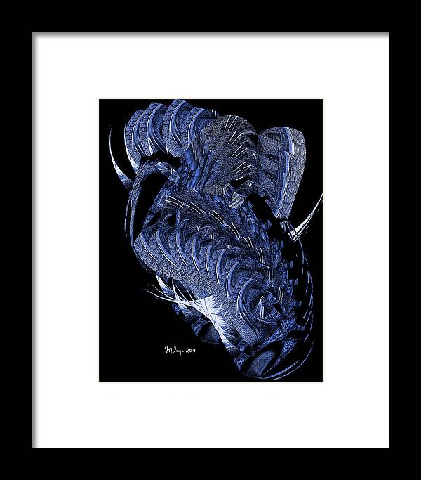 Colorful Framed Print featuring the digital art Cryptic Triptych II by Mike Butler
