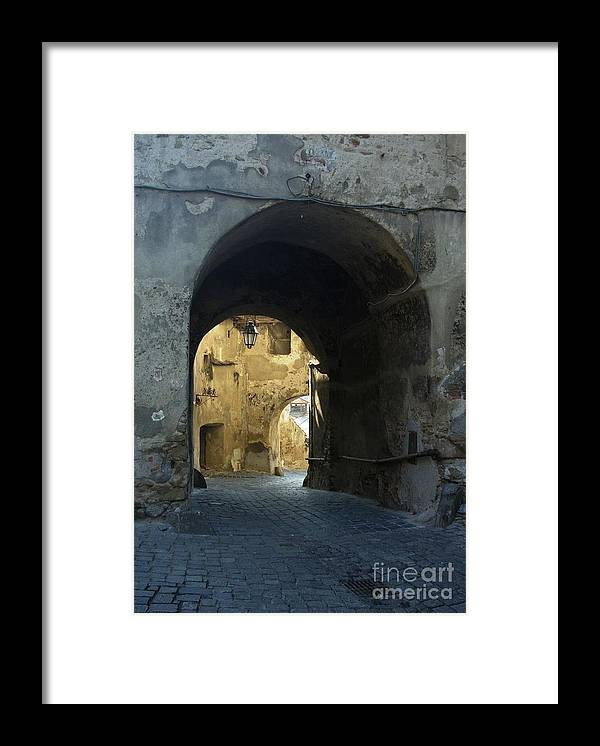 Sighisoara Framed Print featuring the photograph Old town gate 2 by Amalia Suruceanu