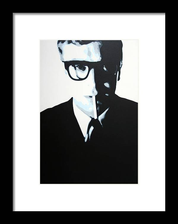 Michael Caine Framed Print featuring the painting - Palmer - by Luis Ludzska