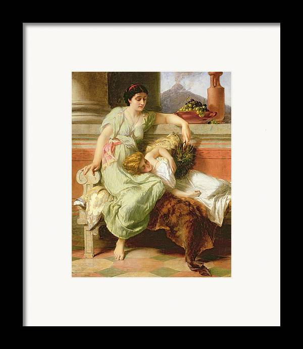 Pompeii Framed Print featuring the painting Pompeii by Alfred W Elmore