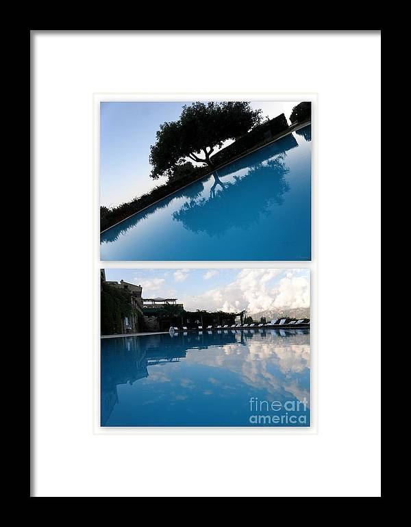 Reflection Framed Print featuring the photograph Reflection. Collage by Tanya Searcy