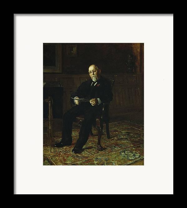 Robert Framed Print featuring the painting Robert M. Lindsay by Thomas Cowperthwait Eakins