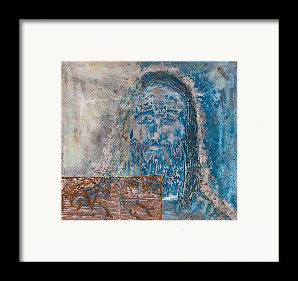 Art Framed Print featuring the painting See Me See My Father And The Spirit by Thomas Lentz