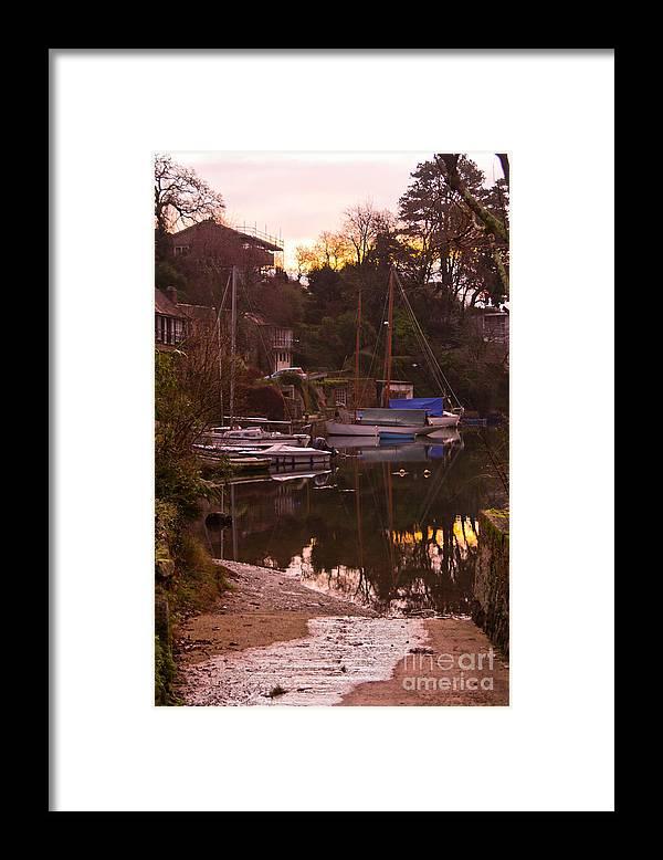 Port Navas Framed Print featuring the photograph Sunrise Port Navas by Brian Roscorla