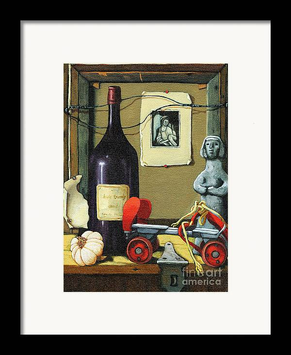 Wine Framed Print featuring the painting The Good Times by Linda Apple