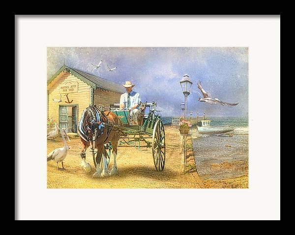 Pelican Framed Print featuring the photograph The Pelican Pantry by Trudi Simmonds
