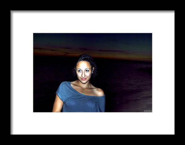 Framed Print featuring the photograph 016 A Sunset With Eyes That Smile Soothing Sounds Of Waves For Miles Portrait Series by Michael Frank Jr