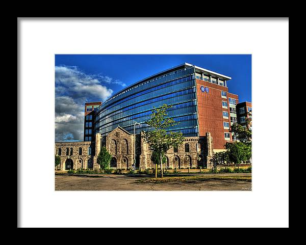 Framed Print featuring the photograph 017 Wakening Architectural Dynamics by Michael Frank Jr