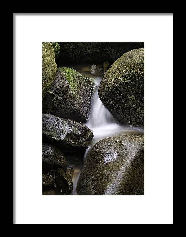 Arkansas Framed Print featuring the photograph 0706-0138 Smith Creek Rocks by Randy Forrester