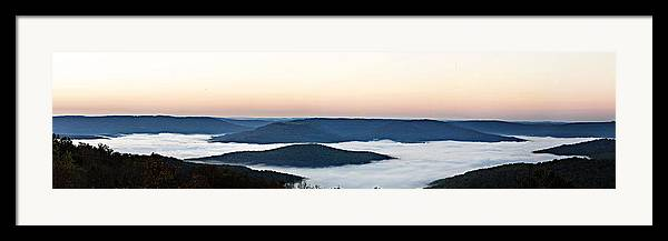 Sunrise Framed Print featuring the photograph 0710-0037 Sunrise At Firetower Road by Randy Forrester