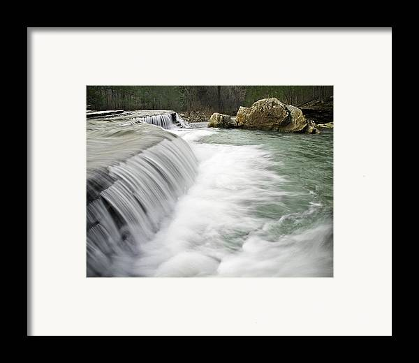 Arkansas Framed Print featuring the photograph 0804-0012 Six Finger Falls 1 by Randy Forrester