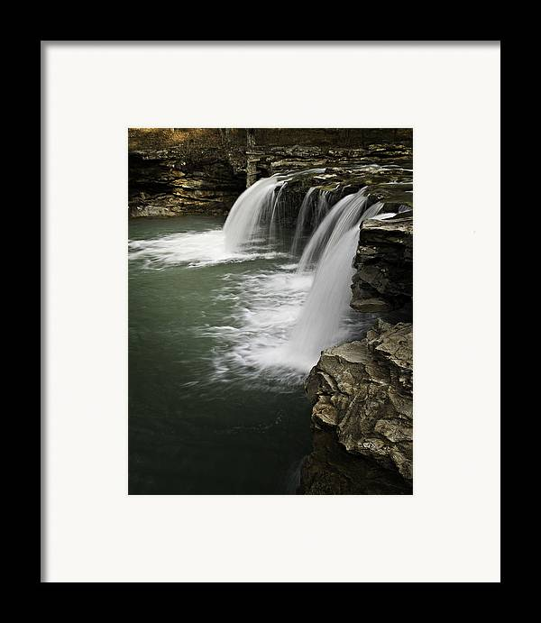 Arkansas Framed Print featuring the photograph 0804-0013 Falling Water Falls 4 by Randy Forrester