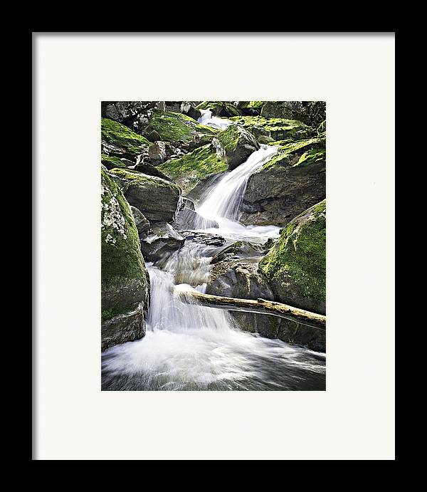 Arkansas Framed Print featuring the photograph 0804-0035 Cascade Above Triple Falls by Randy Forrester
